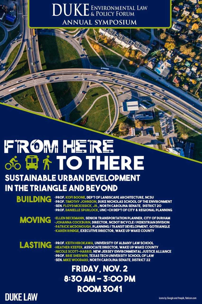Fall 2018 Symposium Sustainable Urban Development Duke